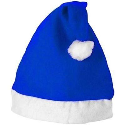 Royal Blue Santa Hats (Royal Blue Felt Hat Christmas Santa Claus Adult Unisex Xmas Fancy Dress Costume)