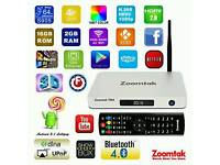 SUPER ANDROID TV BOXES ZOOMTAK T8H 16GB 2GB RAM KODI 64BIT