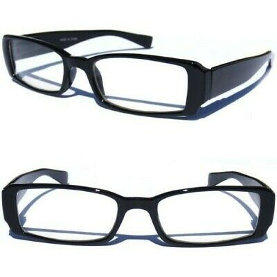 BLACK FRAME CLEAR LENS GLASSES HIPSTER GEEK SEXY COOL NERD RETRO STYLE (Cool Black Glasses)
