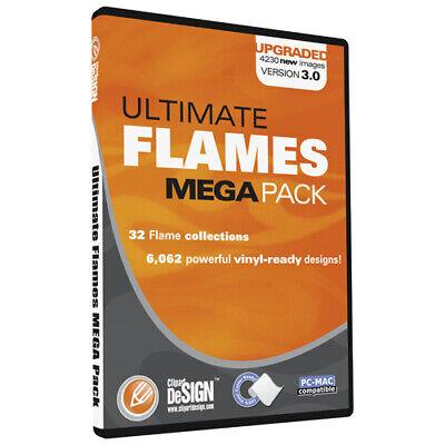 Flames Clipart-vinyl Cutter Plotter Images-eps Vector Clip Art Sign Graphics Cd