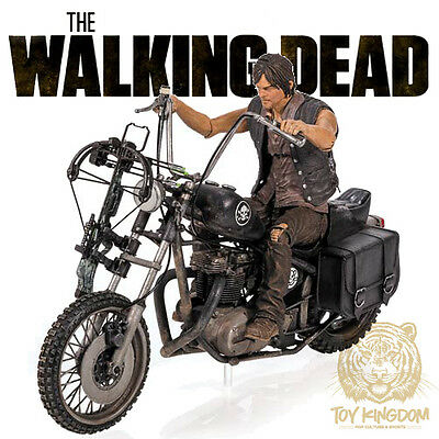Mcfarlane The Walking Dead Tv Series 5 Daryl Dixon   Chopper Deluxe Box Set New