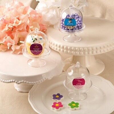 150 Personalized Medium Cake Stand Boxes Wedding Bridal Shower Party Favors - Personalized Cake Boxes