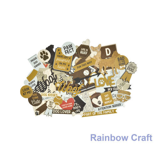 2016-2019 Kaisercraft Die Cuts Scrapbooking collectables 62 option Embellishment - Pawfect Dog