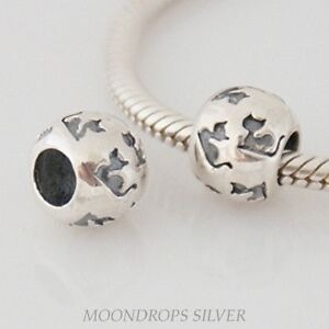Solid 925 sterling silver Europea bracelet bead charm - Stylised Deco CAT spacer