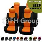 Orange Black Seat Covers