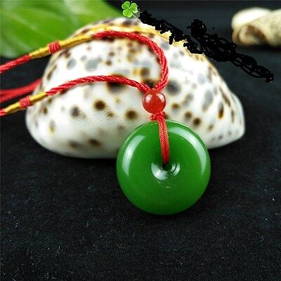 Fashion Natural Jade Buckle Necklace Pendant Chinese Hand-Carved Lucky Amulet Hand Carvings Pendants