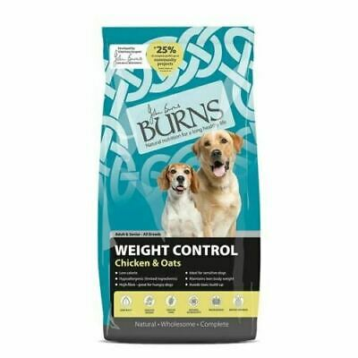 Burns Adult & Senior Dog Food Dry Weight Control Chicken & Oats 12kg