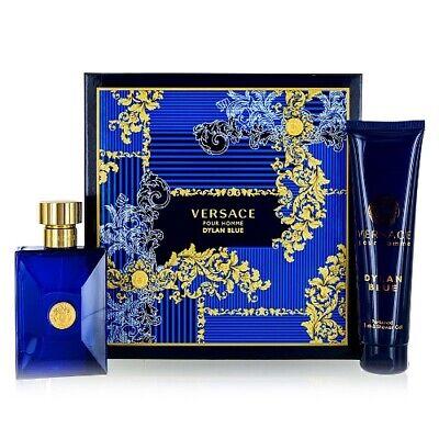 Versace Pour Homme Dylan Blue 2pc Gift Set Cologne 3.4 oz + Shower Gel for Men