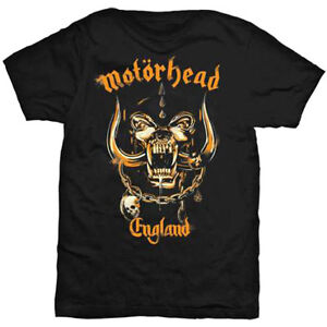 MOTORHEAD-England-Mustard-Pig-T-shirt-Black-Mens-New-Official