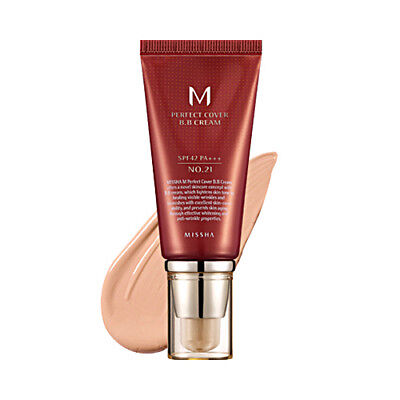 Missha M Perfect Cover BB Cream 50ml *No 21 Light Beige*/ UK Seller