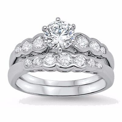 USA Seller Wedding Ring Set Sterling Silver 925 Best Price Jewelry