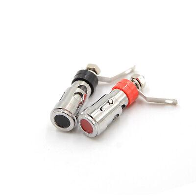 2pcs Speaker Audio AMP Terminal Binding Post Spring Loaded Type Nickel Plated RS