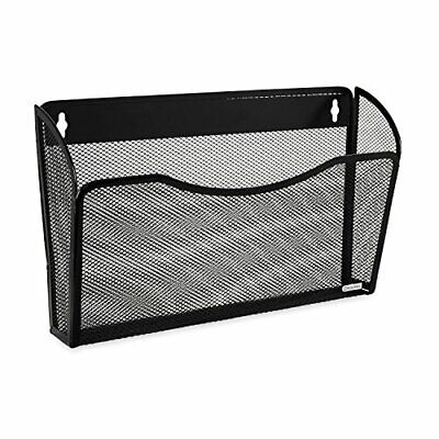 NEW Rolodex Mesh Collection Single-Pocket Wall File, Black (21931) FREE2DAYSHIP for sale  Boston