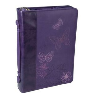 Bible-Cover-W-Butterflies-Faux-Soft-Leather-Deep-Purple-Large-Size-364579