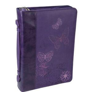 Bible-Cover-W-Butterflies-Faux-Soft-Leather-Deep-Purple-Large-Size-364579