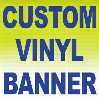 Custom Vinyl Banner 13 oz Full Color Sign Printing 2X3 ft -