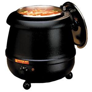 Tomlinson Industries Glenray 10.5 Quart 400 Watt Soup Kettle Warmer Black