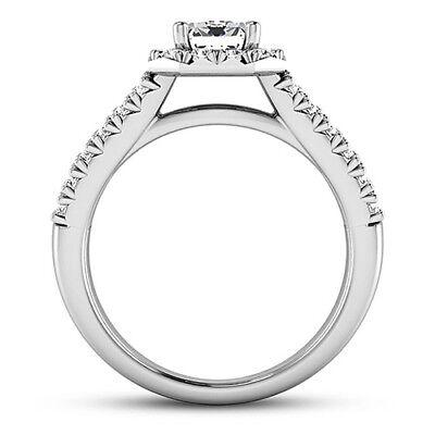 Diamond Engagement Ring 2.70 Carat VS2/F Emerald Cut 14k White Gold 1