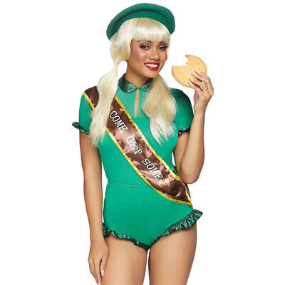 Girl Scout Cookie Halloween Costume (NEW LEG AVENUE Meet the Cookie Scout Sweetie Set Costume - halloween girl)