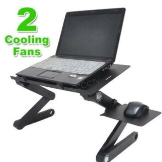 COMPUTER STAND (ADJUSTABLE WITH TWIN COOLING FANS)