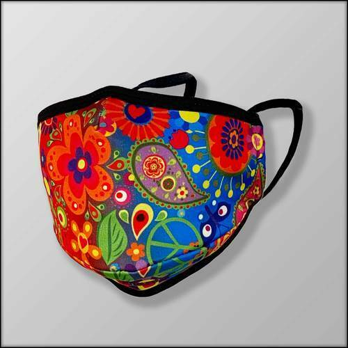 NEW INKnBURN Peace Print 3-Layer Mask (New In Package)
