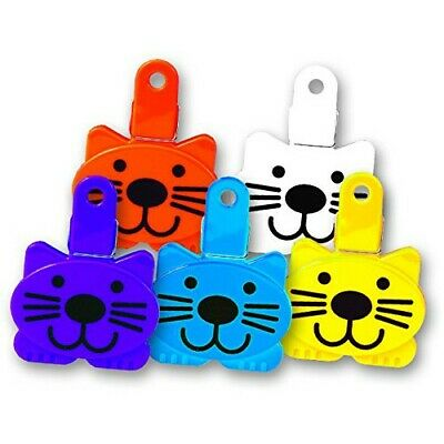 Pet Buddies Cat Food Treat Bag Clip Plastic Assorted Colors PB1308 Buddies Treat Bags