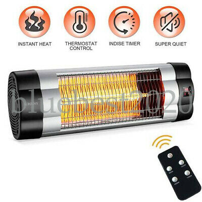 Electric Wall-Mounted Indoor/Outdoor Infrared Patio Heater with LCD covid 19 (Electric Infrared Wall coronavirus)