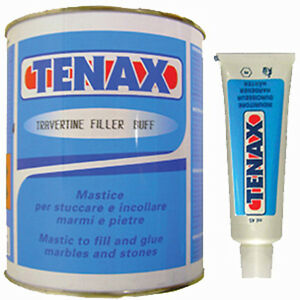 Tenax epoxy resin travertine marble limestone tile hole for Marble filler repair