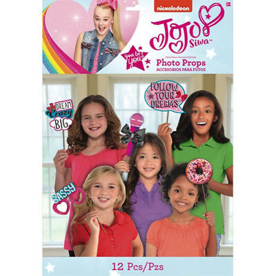 JOJO SIWA Pink PHOTO PROP SET (12) ~ Birthday Party Supplies Decorations Favors Birthday Party Favors Photo