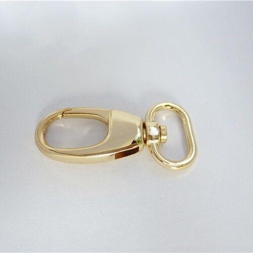 2/10/20 PCS Metal Bag Clasps Lobster Swivel Trigger Clips Snap Hook Buckle Gold