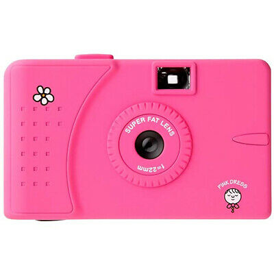 SuperHeadz Pink Dress f=22mm Wide Lens Series 35mm Film Camera