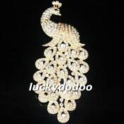 Clear Rhinestone Brooch