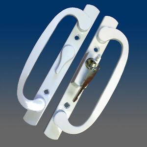 Patio Door Handle Set Replacement PD2000WHITE-OFFSET LOCK/LEVER
