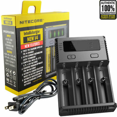NEW 2019 Nitecore i4 Smart 4 Channel IMR Vape 18650 20700 21700 Battery Charger