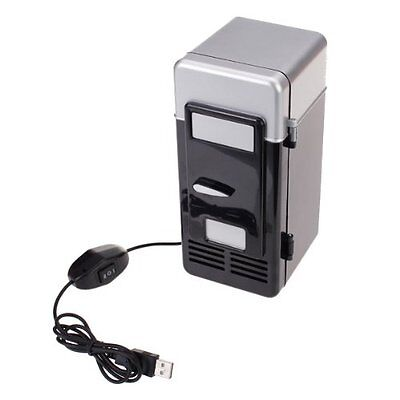 PC USB Mini Refrigerator Fridge Beverage Drink Can Cooler Warmer ED