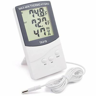 Hygrometer Thermometer Digital Indoor Outdoor Monitor Temper