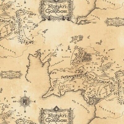 Camelot Fabrics Lord of the Rings 2 - 23220204 3 Tan Middle Earth Map (Lord Of The Rings Middle Earth Map)