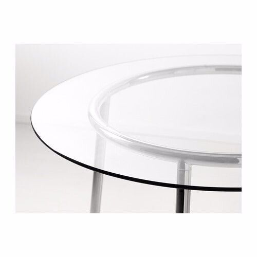 finest selection f6ff7 64590 IKEA SALMI Table, Glass/chrome-plated, ROUND 105 cm | in Wandsworth, London  | Gumtree