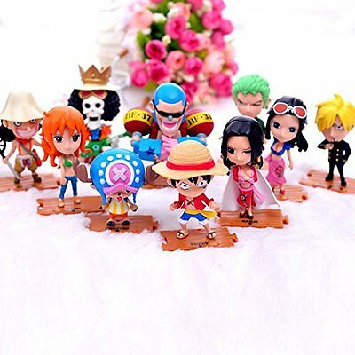 One Piece Straw Hat Pirates 10 Pcs Figures Set  Luffy Zoro Sanji Hancock Franky