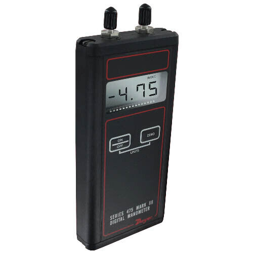 "Dwyer 475-2-FM Mark III Handheld Digital Manometer, 0-40"" w.c."