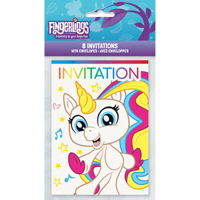 FINGERLINGS INVITATIONS  ~ Birthday Party Supplies Stationer
