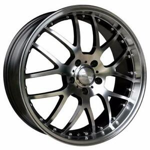**PROMOTION** MAGS NEUFS 18'' 5 X 120 HD WHEELS MSR MACHINE FACE/GLOSS BLACK