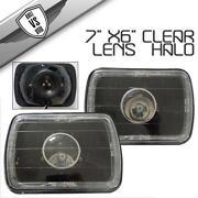 7x6 Black Projector Headlights