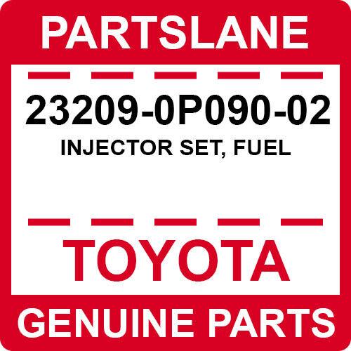 23209-0p090-02 Toyota Oem Genuine Injector Set, Fuel