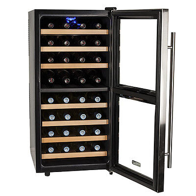 Koldfront TWR327ESS - Koldfront 32 Bottle Free Standing Dual Zone Wine Cooler