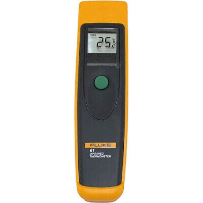 Fluke 61 Ir Thermometer Backlit Display -0-525f Range 81 Ratio