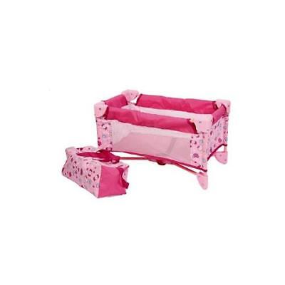Baby Doll Bed Playpen Furniture Playset for Dolls New