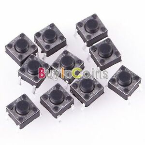 100pcs mini momentan bouton poussoir switch interrupteur. Black Bedroom Furniture Sets. Home Design Ideas
