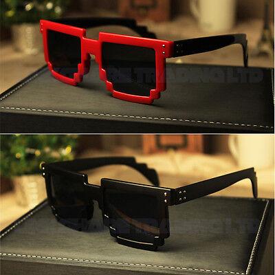 Retro Novelty Nerd Geek Gamer Colorful Pixel Sun Glasses Eyewear Men Women - Pixel Nerd Glasses