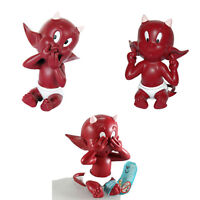 3 Figurines See No Devil, Hear No Devil, Speak No Devil Pvc Figures Little Devil -  - ebay.it